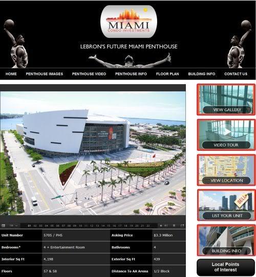 LeBron's Future Miami Penthouse at Marina Blue