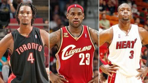 LeBron James Dwyane Wade Chris Bosh Miami Heat
