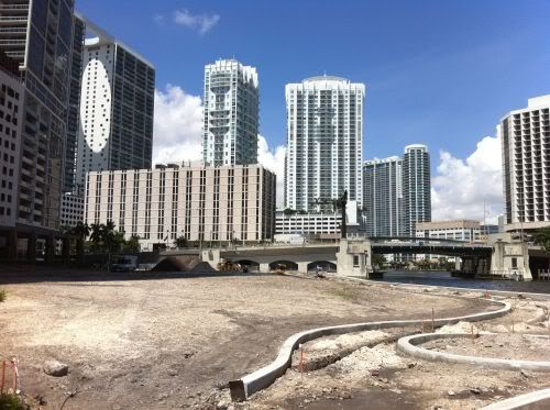 Miami Circle Park construction