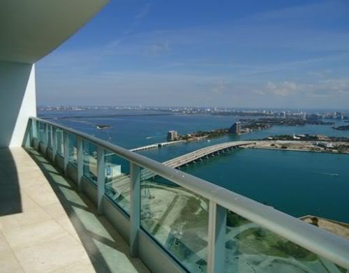 view from the penthouse at 900 biscayne bay
