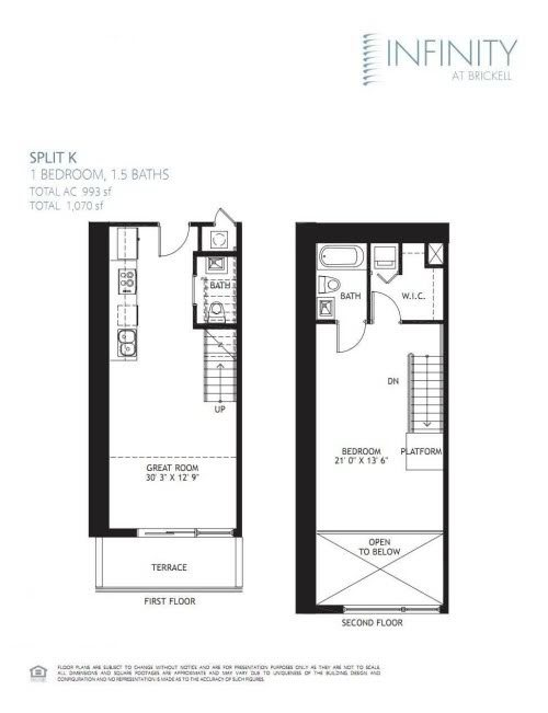 infinity at brickell 1 bedroom lowest price per square