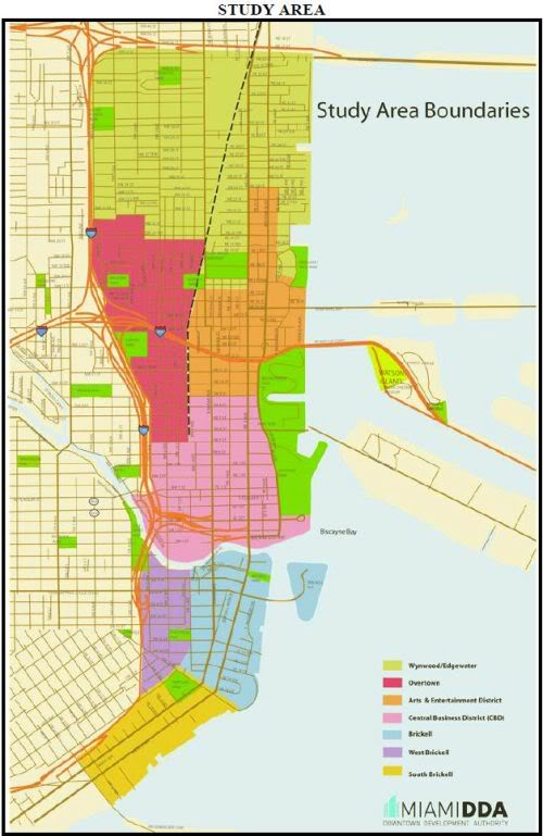 Downtown Miami boundaries