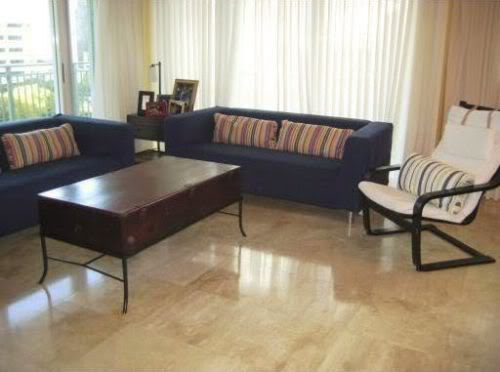 The Mark on Brickell living room