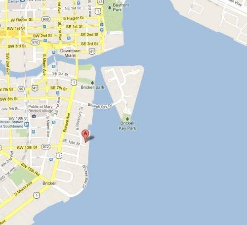 The Mark on Brickell map