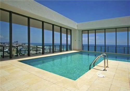 Apogee South Beach penthouse pool