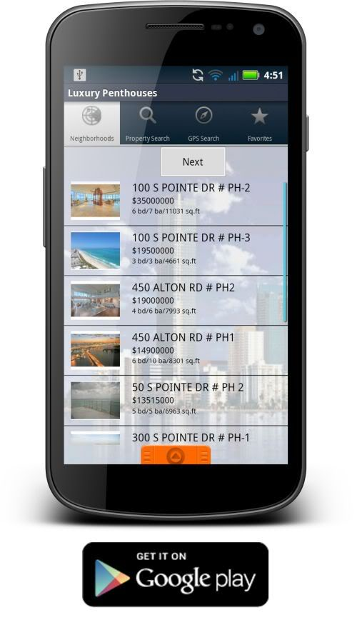 Miami Condo Investments Android app