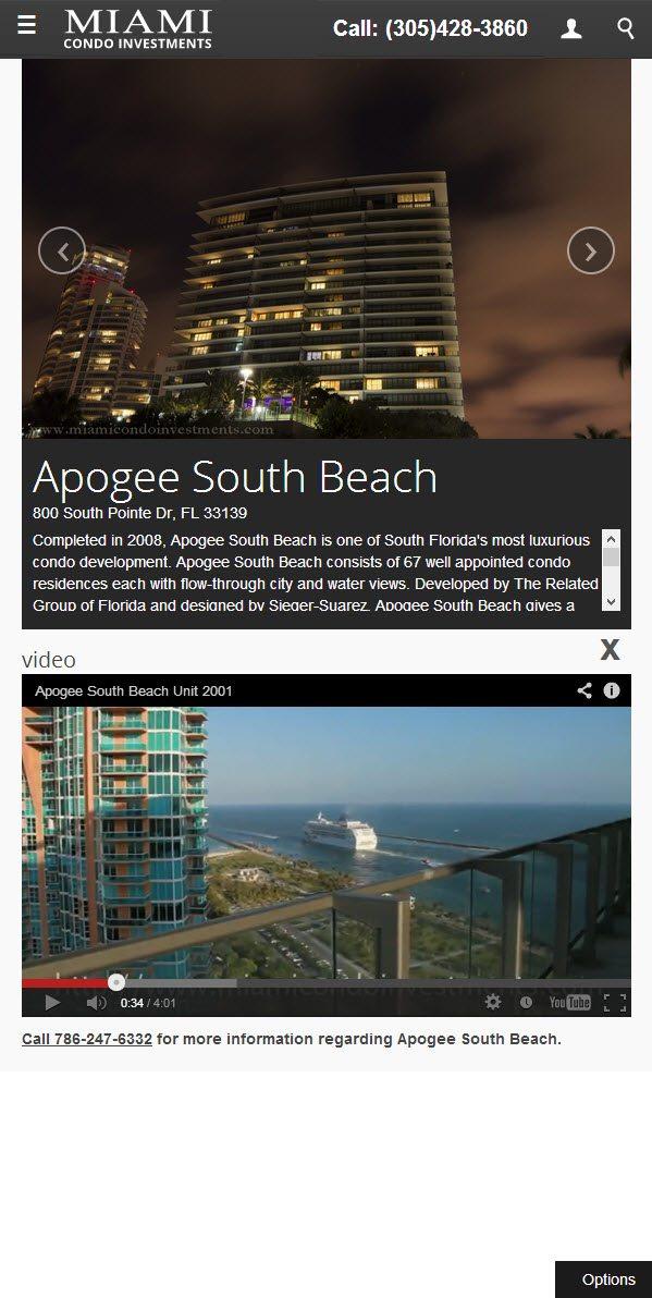 Apogee South Beach vertical orientation