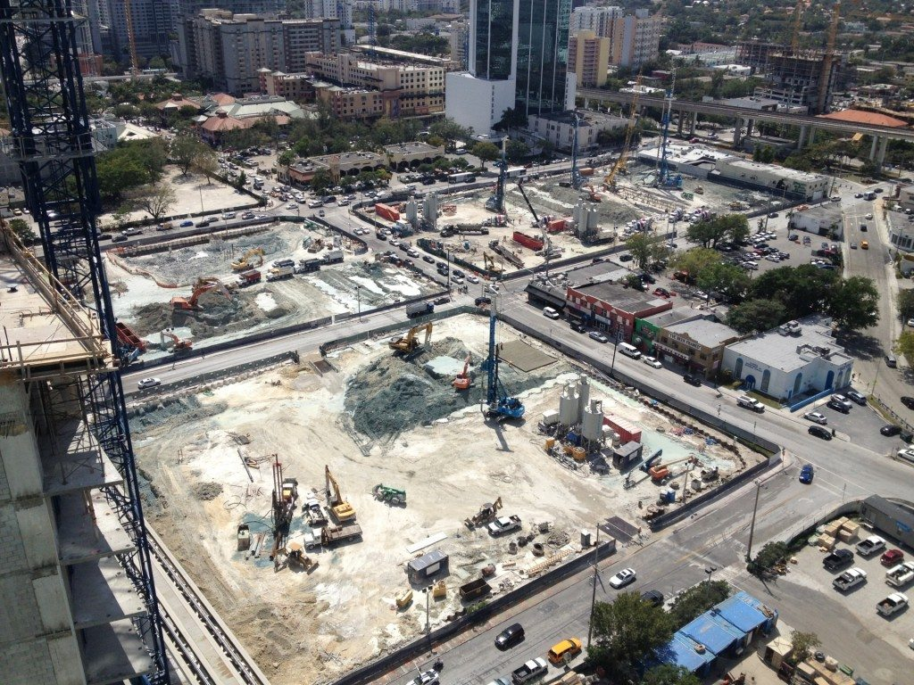 Brickell Citycentre construction aerial