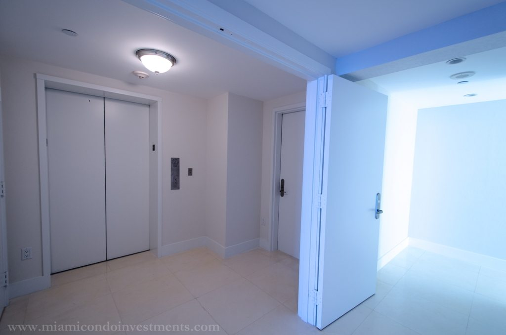 private elevator and foyer