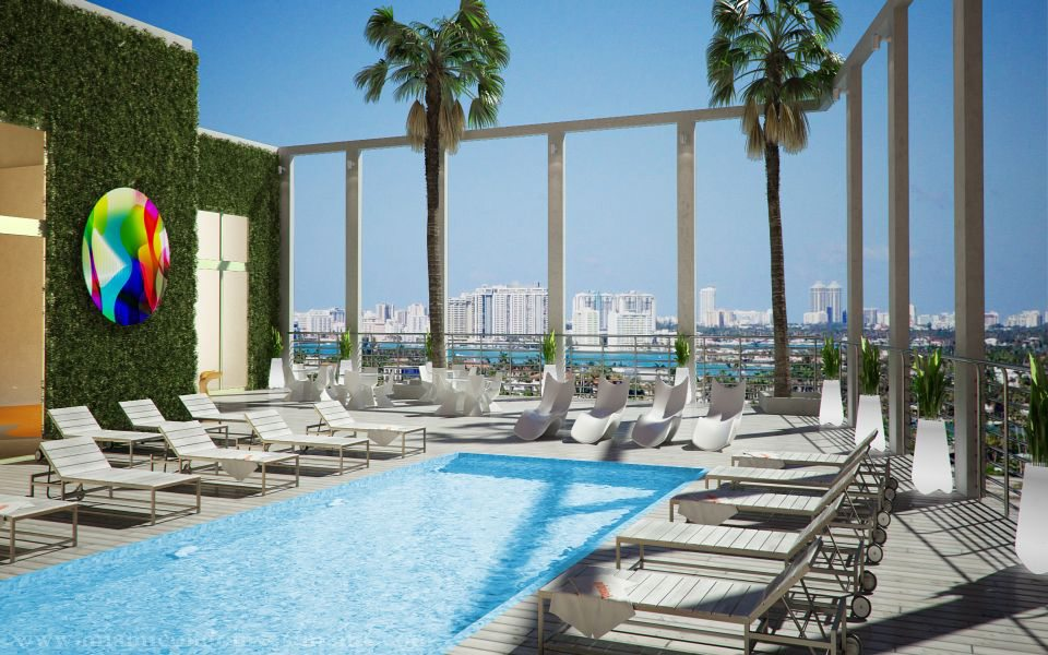 myBrickell rooftop pool deck