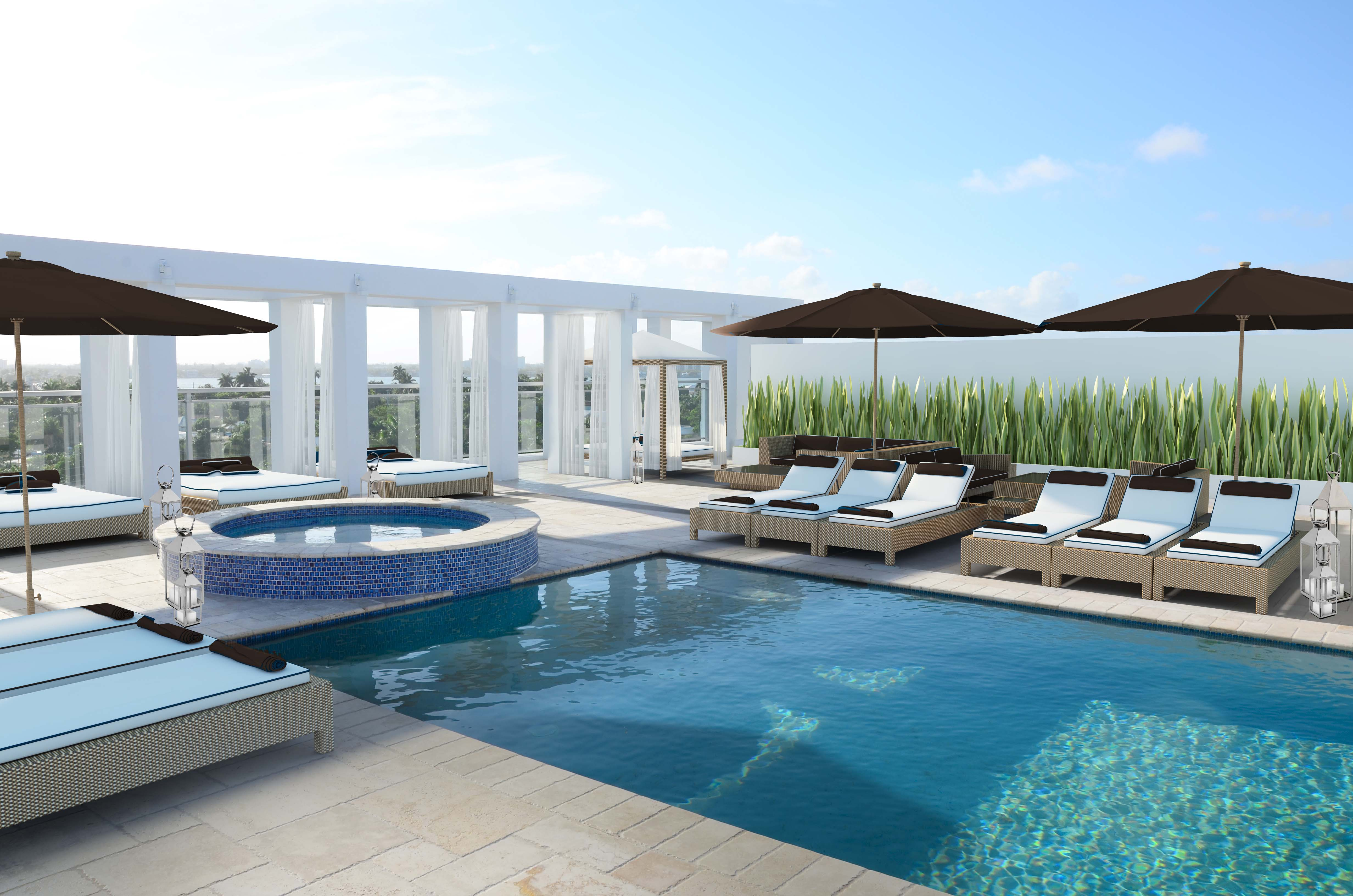 Riva Bay Harbor rooftop pool rendering