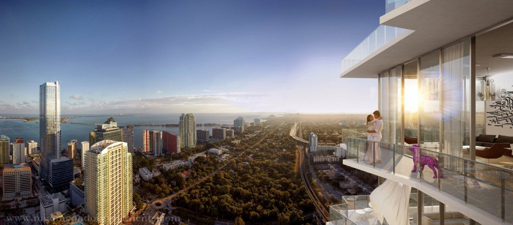 SLS Brickell Residences view