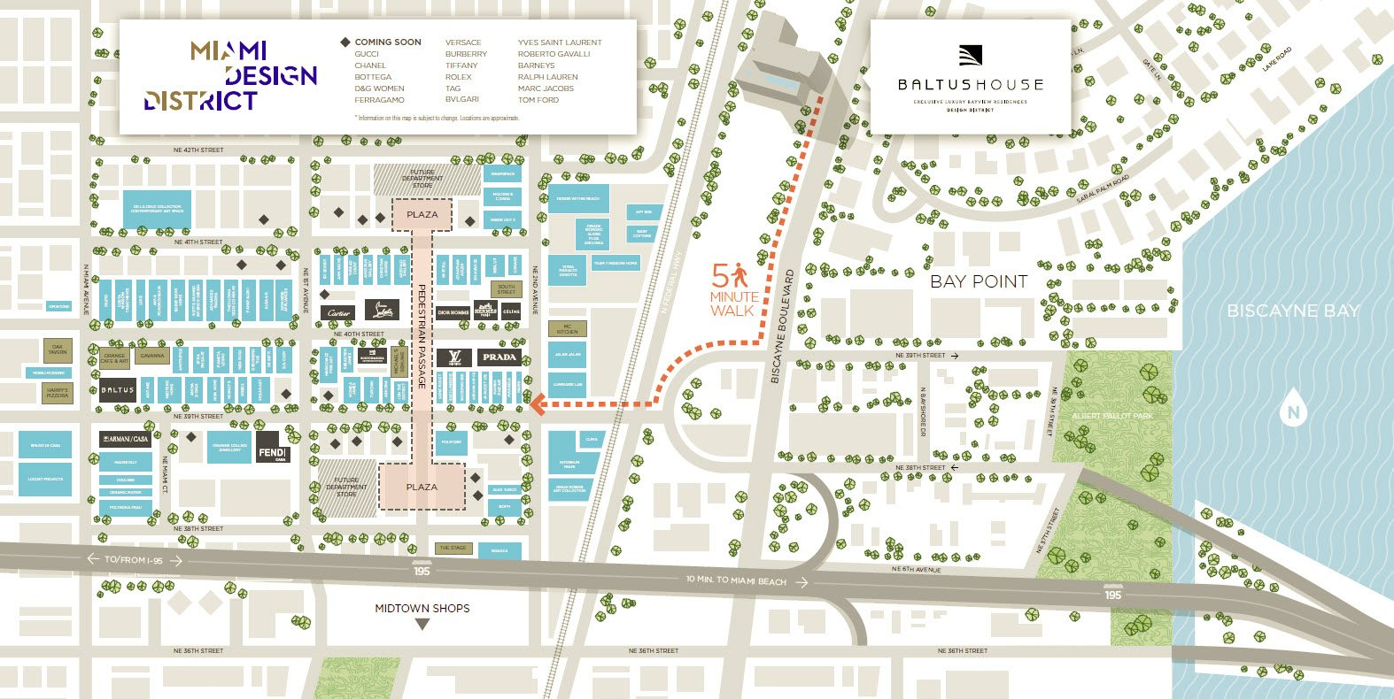 A five minute walk from the luxury shops and world famous restaurants in the design district baltus house