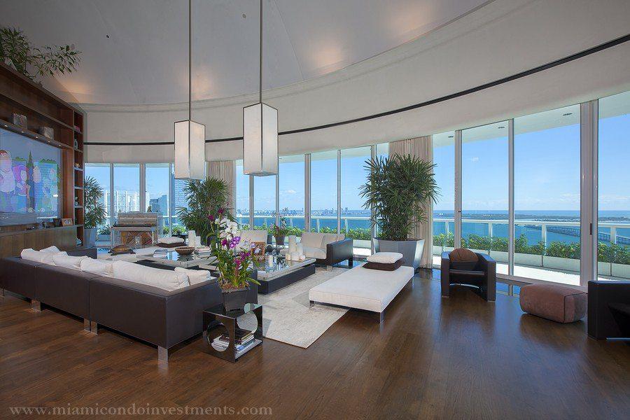 Bristol Tower penthouse living room