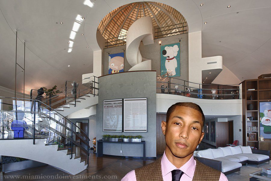 Pharrell Williams Miami penthouse at Bristol Tower