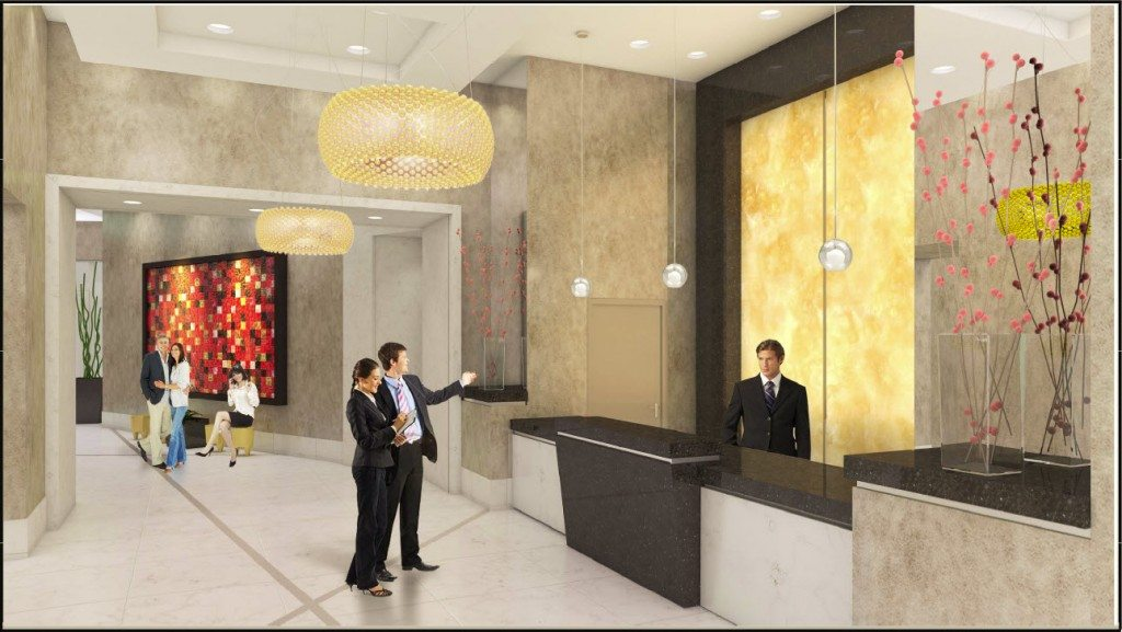 Vue at Brickell lobby rendering