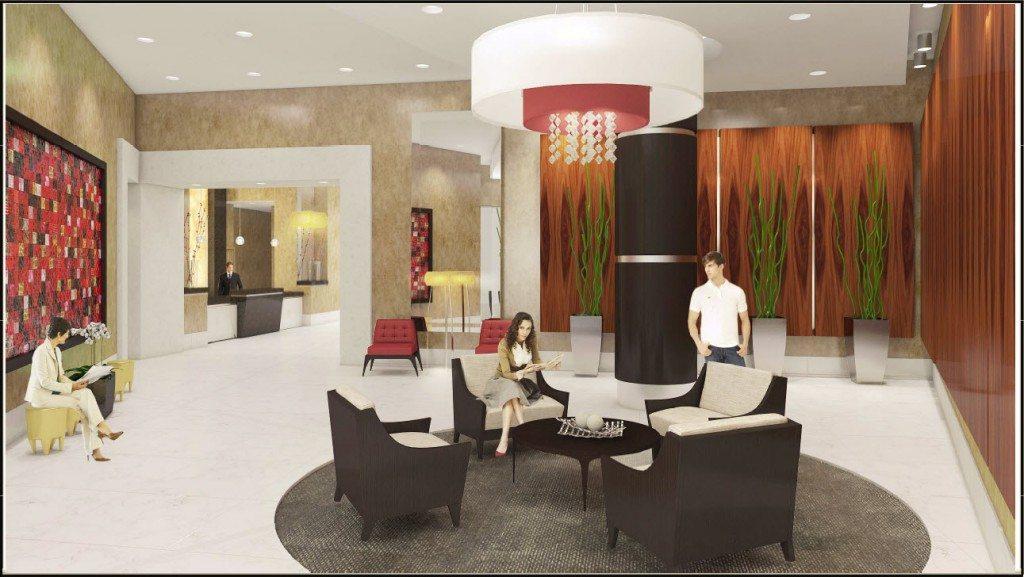 Vue at Brickell lobby rendering 2