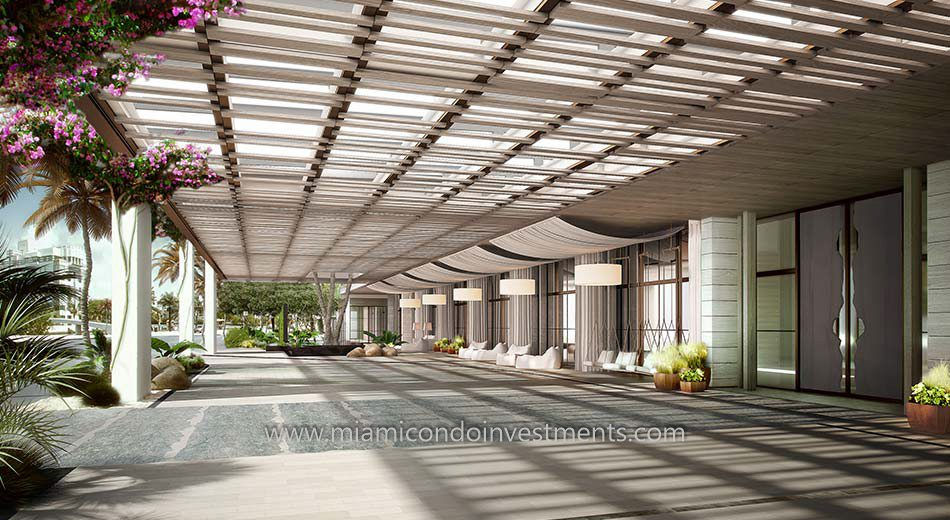 porte-cochere at 1 Hotel and Homes South Beach