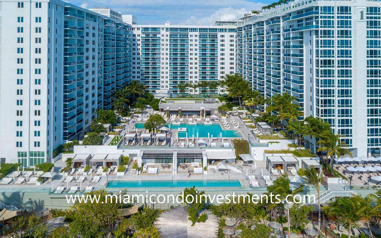1 Hotel and Homes South Beach pool decks
