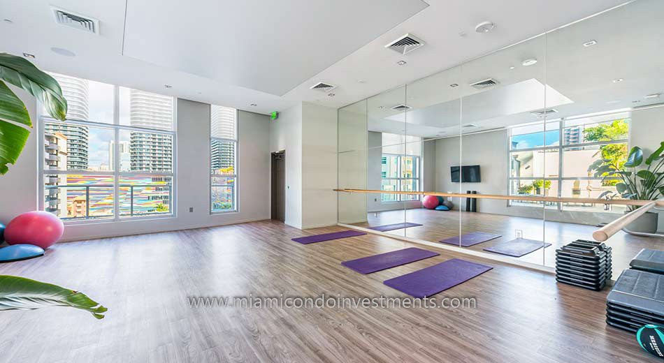 yoga studio at 1100 Millecento