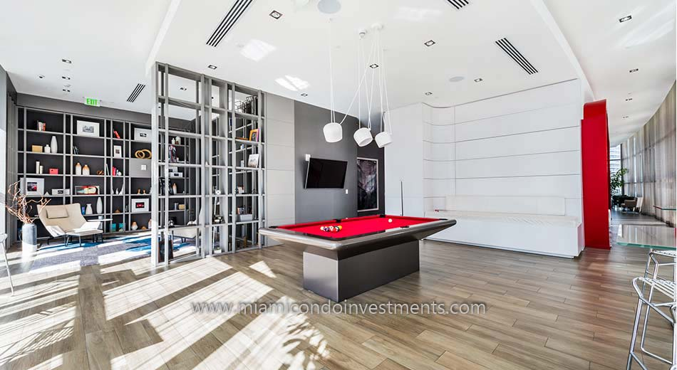 billiards room at 1100 Millecento