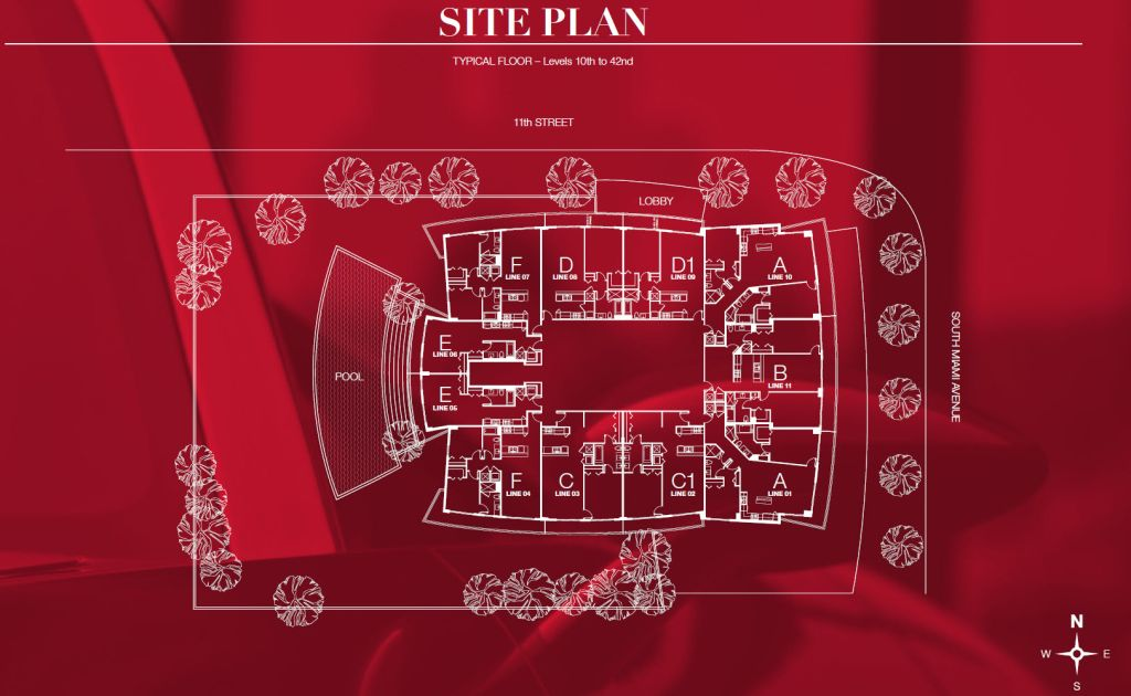 1100 Millecento site plan