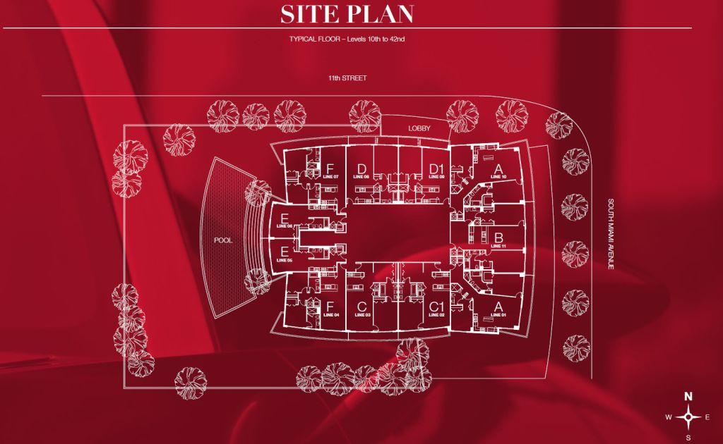 1100 Millecento site plan
