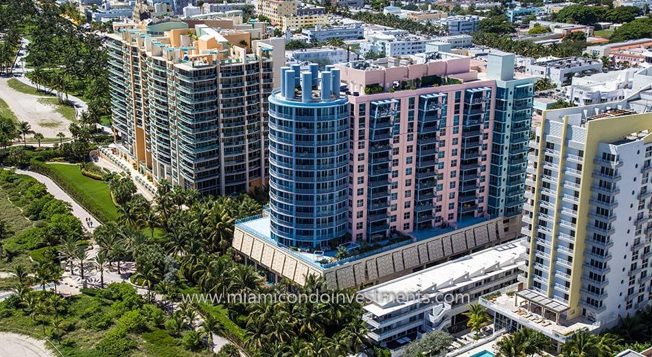 aerial view of 1500 Ocean Drive