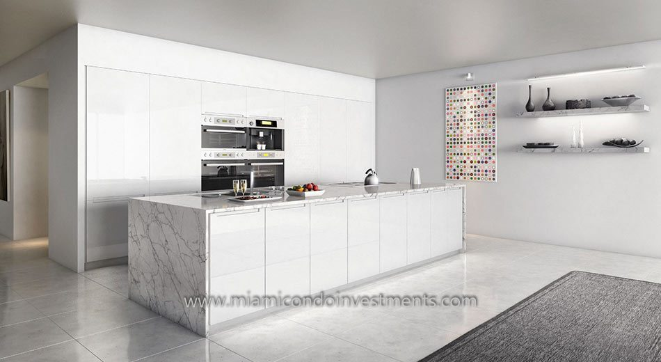 321 Ocean South Beach kitchen