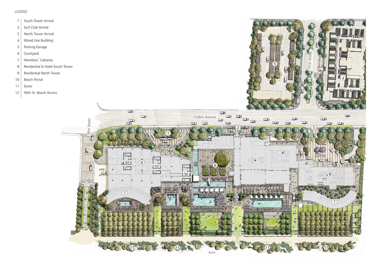 The-Surf-Club-Four-Seasons-Private-Residences-Surfside-Miami-Beach-Florida-Site-Plan.-Sales-786-363-8551