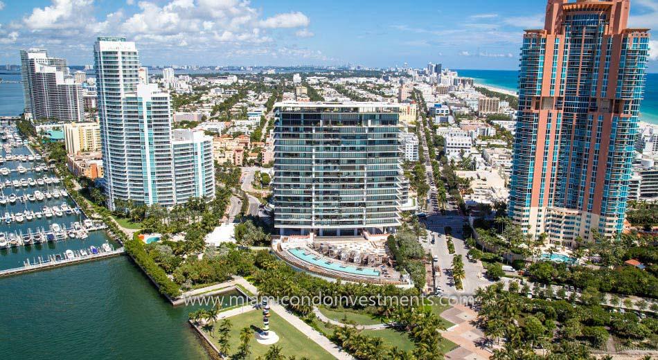 aerial shot of Apogee South Beach