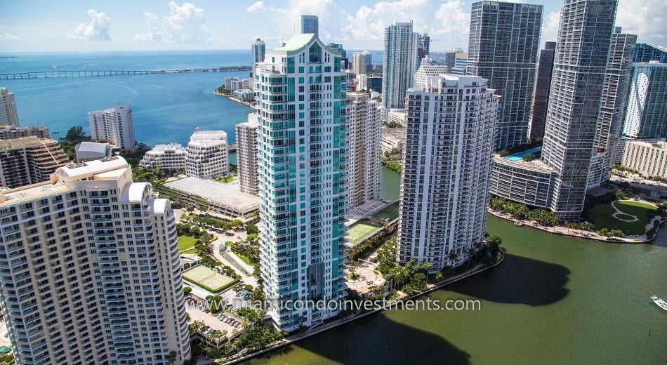 aerial of Asia Brickell Key