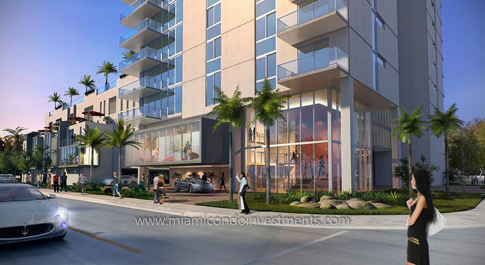street-level view of Bay House in Miami