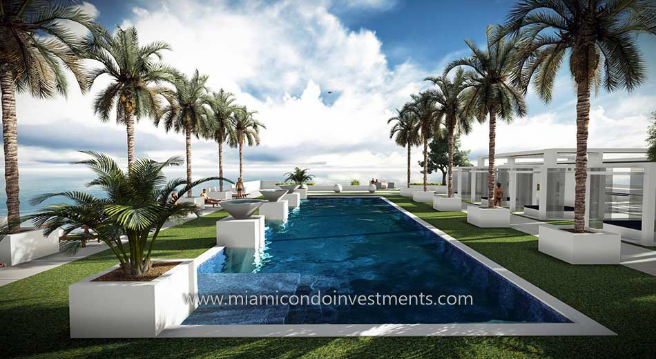 pool deck at Bay House Miami