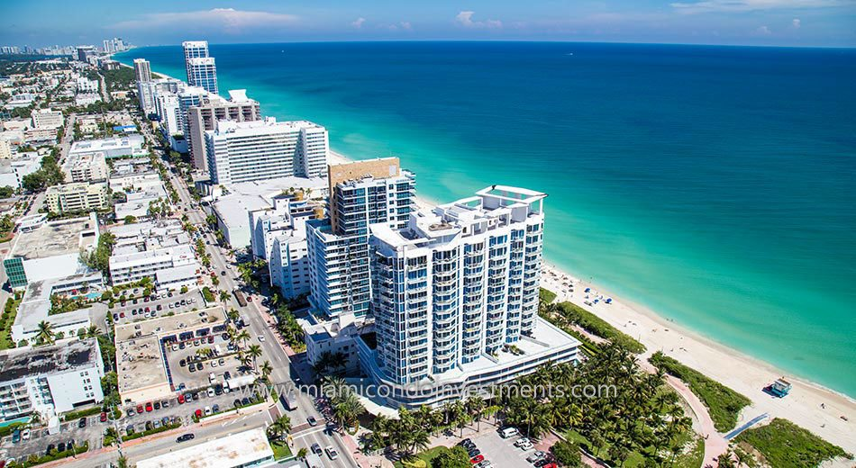 aerial of Bel Aire on the Ocean in Miami Beach