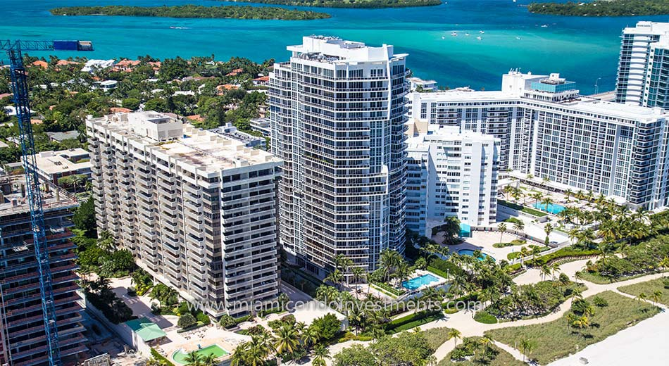aerial of Bellini Bal Harbour condos