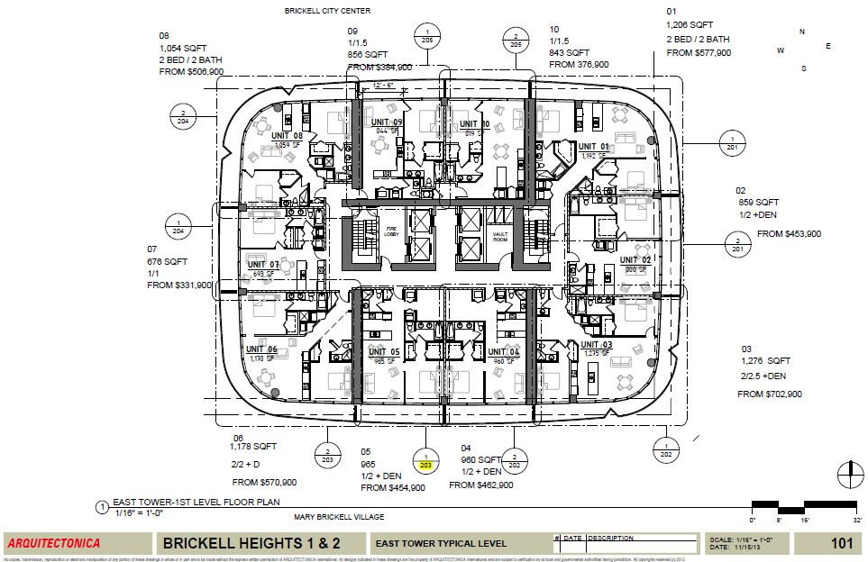 Brickell Heights site plan
