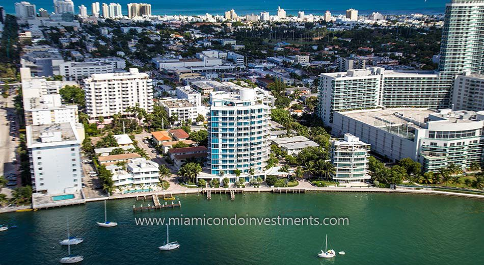 aerial view of Capri South Beach condominiums