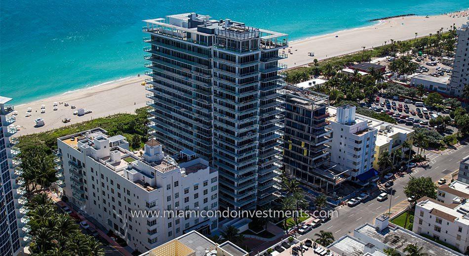 aerial view of Caribbean Miami Beach condos