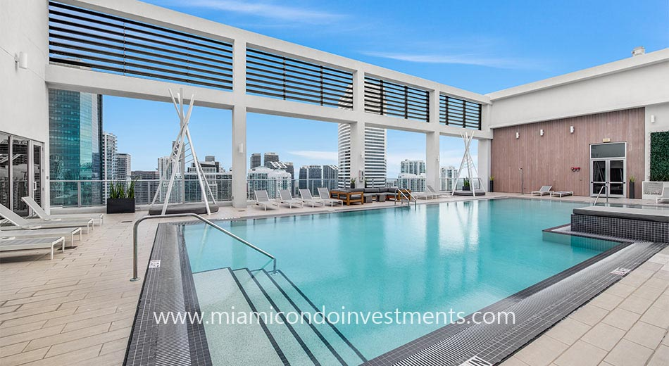rooftop pool at Centro condos