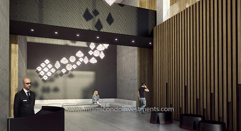 Centro Miami condos lobby