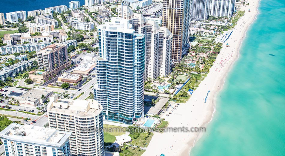 aerial photo of Chateau Beach Residences