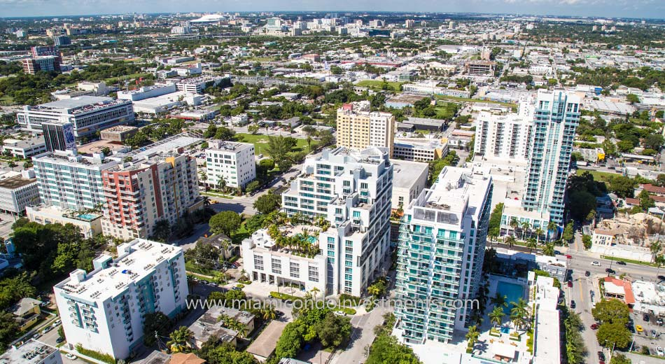 aerial photo of City 24 condos