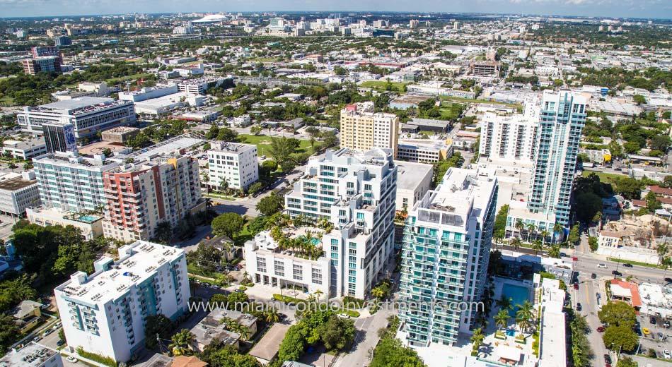 aerial photo of City 24 condos