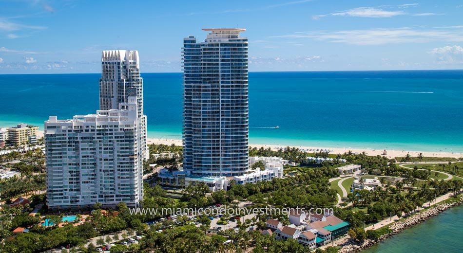 ocean views from Continuum South Beach South Tower