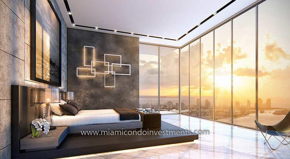 Echo Brickell Master Bedroom