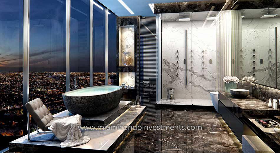 Echo Brickell Master Bathroom