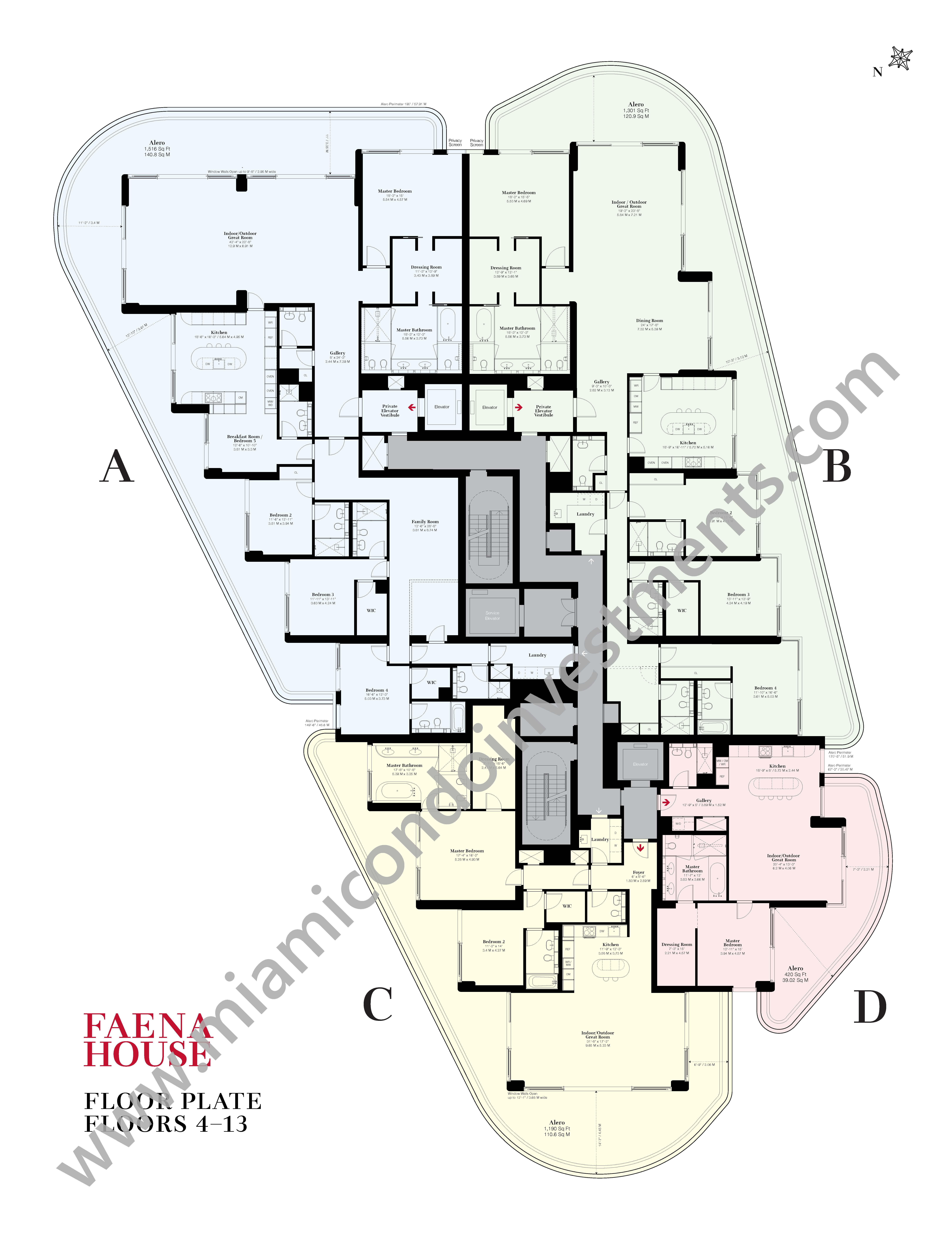 Faena House Site Plan