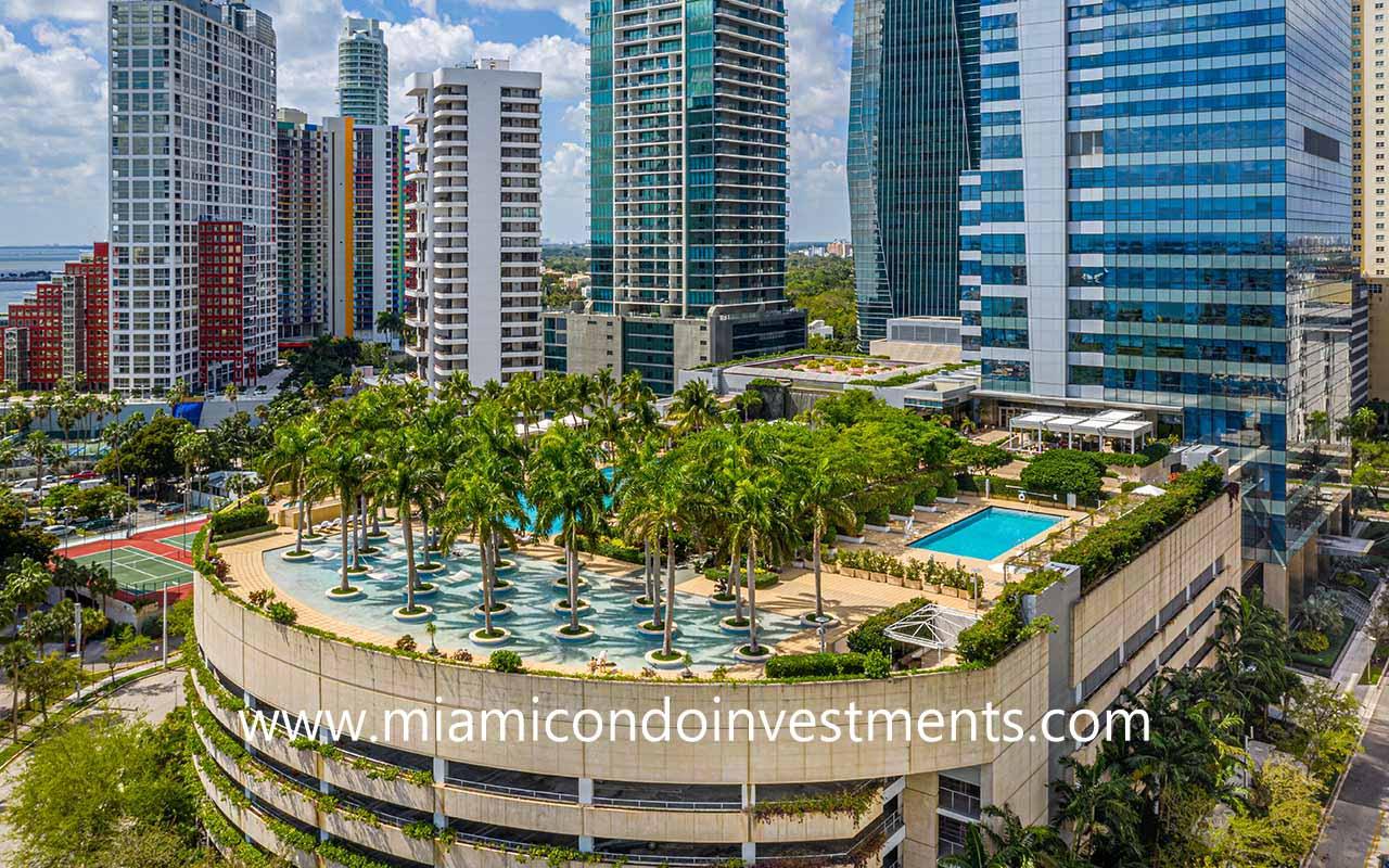 Four Seasons pool deck in Miami