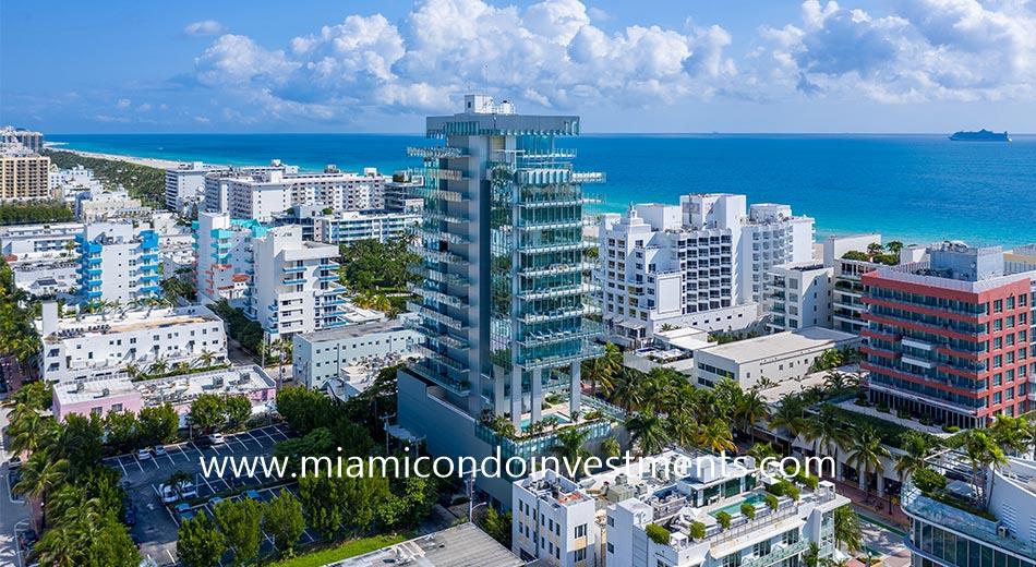 ocean views from Glass Miami Beach